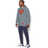 Under Armour Men's Retro Superman Triblend Hoody - Steel/Red: Image 4