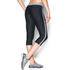 Under Armour Women's HeatGear Sport Capri Tights - Black/True Grey Heather: Image 4