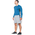 Under Armour Men's Armour HeatGear Long Sleeve Compression Top - Brilliant Blue/Stealth Grey: Image 4
