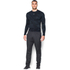 Under Armour Men's ColdGear Jacquard Crew Long Sleeve Shirt - Black/Steel: Image 3