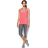 Under Armour Women's HeatGear Armour Racer Tank - Brilliant Pink/Metallic Silver: Image 3