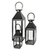 Broste Copenhagen Frit Outdoor and Indoor Lanterns - Black (Set of 3): Image 1