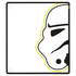 Star Wars Classic Stormtrooper Coral Fleece Blanket - 120 x 150cm: Image 1