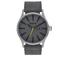 Nixon The Sentry Leather Watch - Charcoal: Image 1