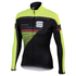 Sportful Gruppetto Partial Windstopper Jacket - Black/Yellow: Image 1