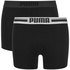 Puma Men's 2-Pack Placed Logo Boxers - Black: Image 1