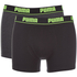 Puma Men's 2-Pack Boxers - Grey/Black: Image 1