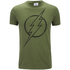 DC Comics Herren The Flash Line Logo T-Shirt - Militär Grün: Image 1