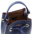 Furla Women's Stacy Mini Drawstring Bucket Bag - Navy: Image 5