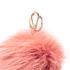 Furla Women's Bubble Fur Pom Pom Keyring - Paprika: Image 2