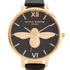 Olivia Burton Women's Bee Watch - Black & Gold: Image 3