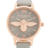 Olivia Burton Women's Moulded Bee Midi Dial Watch - Grey/Rose Gold: Image 3