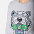 KENZO Women's Embroidered Tiger On Light Cotton Molleton Sweatshirt - Light Grey: Image 5