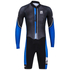 Santini Dirt Shell Aquazero Cyclocross Fleece Body Suit - Black/Blue: Image 3
