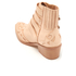 Toga Pulla Women's Buckle Side Leather Heeled Ankle Boots - Beige: Image 4