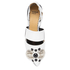 Toga Pulla Women's Leather Jewelled Toe Pointed Flats - White: Image 3