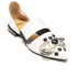Toga Pulla Women's Leather Jewelled Toe Pointed Flats - White: Image 2
