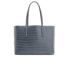 Aspinal of London Women's Regent Croc Tote Bag - Blue: Image 6