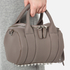 Alexander Wang Women's Mini Rockie Pebbled Leather Stud Detail Bowler Bag - Mink Grey: Image 3