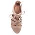 UGG Women's Yasmin Snake Tassle Leather Wedged Sandals - Horchata: Image 3