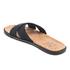 UGG Men's Ithan Cork Double Strap Leather Slide Sandals - Black: Image 4