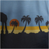 Star Wars: Rogue One Mens Death Star Palm Tree T-Shirt - Blue: Image 2