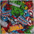 Marvel Comics Men's Avengers All Over Print Lounge Pants - Multi: Image 4
