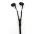 Zip Earphones with Wireless Bluetooth Receiver- Black: Image 1