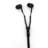 Zip Earphones with Wireless Bluetooth Receiver- Black: Image 1