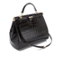 Aspinal of London Women's Large Frame Bag - Black Croc: Image 3