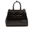 Aspinal of London Women's Small Snap Bag - Black Croc: Image 6