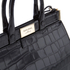 Aspinal of London Women's Small Snap Bag - Black Croc: Image 4
