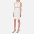 Alexander Wang Women's Crew Neck Fish Line Detail Straight Cut Dress - Bone: Image 3