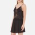Alexander Wang Women's Button-Up Lace Trim Cami Top with Smocking Detail - Matrix: Image 3