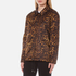 Alexander Wang Women's Classic Coaches Embroidered Patch Detail Jacket - Leopard: Image 2