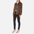 Alexander Wang Women's Classic Coaches Embroidered Patch Detail Jacket - Leopard: Image 4