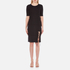 Alexander Wang Women's Crew Neck Short Sleeve Pullover with Back Slit Lacing - Matrix: Image 1