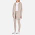 T by Alexander Wang Women's Soft French Terry Long Zip Up Hoody - Beige: Image 4