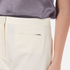 T by Alexander Wang Women's Stretch Cotton High Waisted Culottes - Eggshell: Image 5