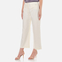 T by Alexander Wang Women's Stretch Cotton High Waisted Culottes - Eggshell: Image 2