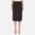 T by Alexander Wang Women's Stretch Poly Twill Slick Pencil Skirt with Slit - Black: Image 1