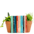 Planter Bookends - Brown: Image 1