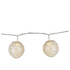 Parlane Lace Globe Garland Lights - White (Set of 10): Image 1