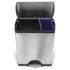 Poubelle de recyclage rectangulaire Simplehuman 46l -Clair: Image 1