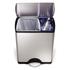 Poubelle de recyclage rectangulaire Simplehuman 46l -Clair: Image 4