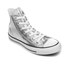 Converse Women's Chuck Taylor All Star Hi-Top Trainers - Silver/Black/White: Image 2