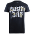 WWE Men's Austin Shattered T-Shirt - Black: Image 1