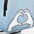 Lulu Guinness Women's Heart Hands Large Denim Backpack - Denim: Image 3