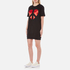 Love Moschino Women's Peace Heart Sweatshirt Dress - Black: Image 3