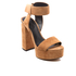 Alexander Wang Women's Keke Platform Heeled Sandals - Clay: Image 2